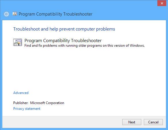 Run program compatibility mode-1