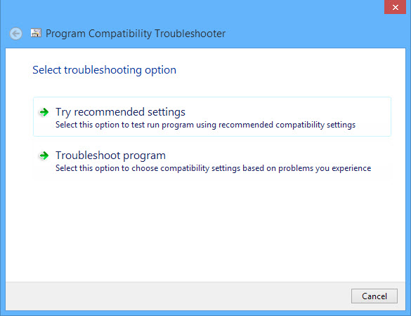 Run program compatibility mode-4