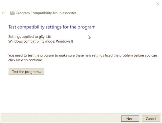 Run program compatibility mode-5