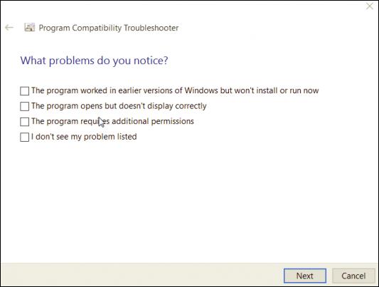 Run program compatibility mode-6