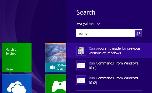 Run program compatibility mode
