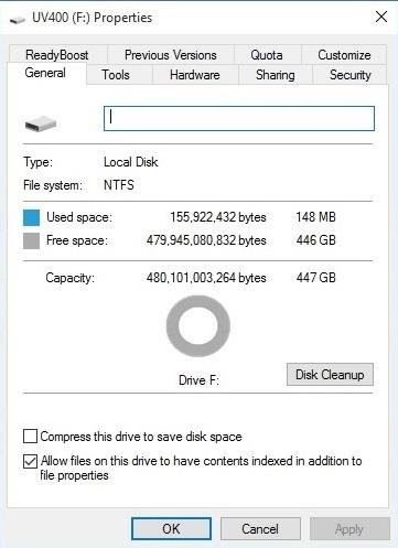 SSD capacity