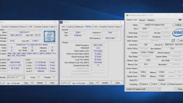 HD Graphic 620 Intel Kaby Lake
