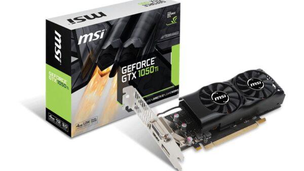 MSI GTX 1050 Ti low profile 1