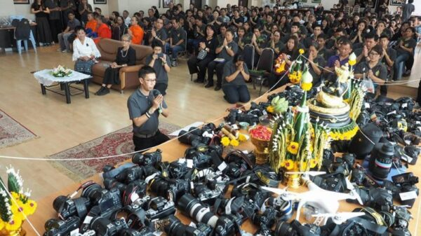 Photography Students in Thailand Give Thanks with an Altar of DSLR Gear 600