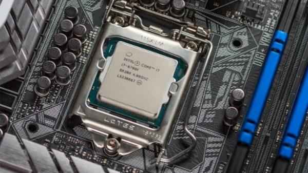 intel cpu i6 6700K on socket 600 01