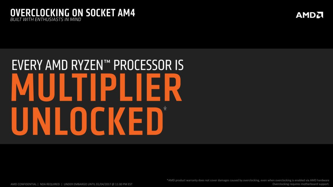 AMD Ryzen ad no clock lock 600