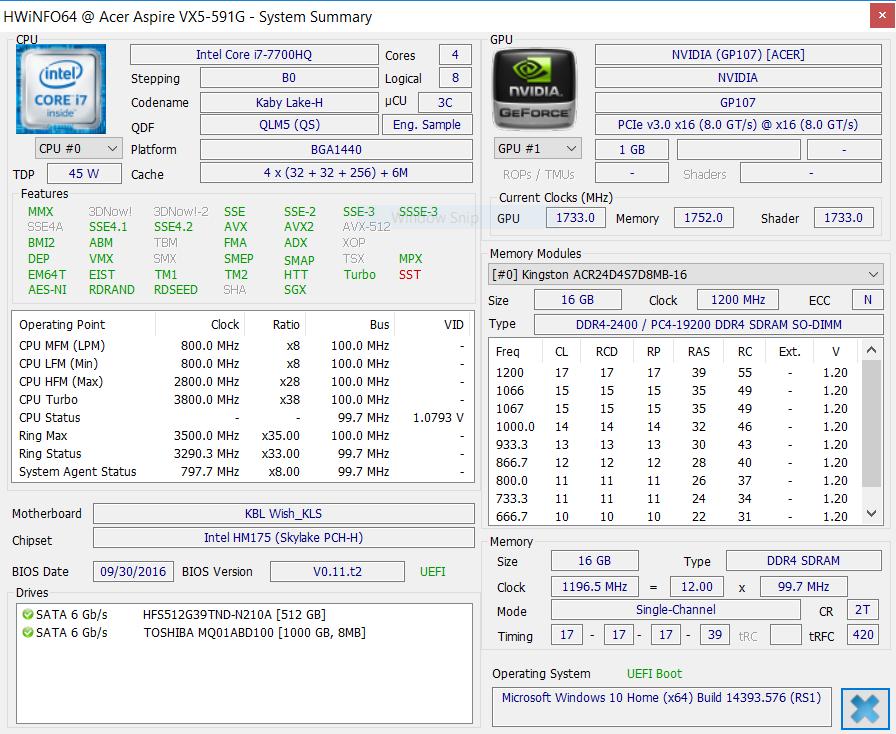 Acer Aspire VX5-591G-D0DD hwinfo 600