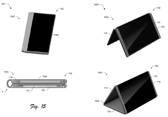 Microsoft patent reveals foldable phone that turns into a tablet 600 01