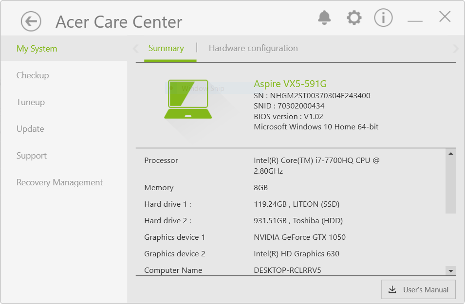 acer care1