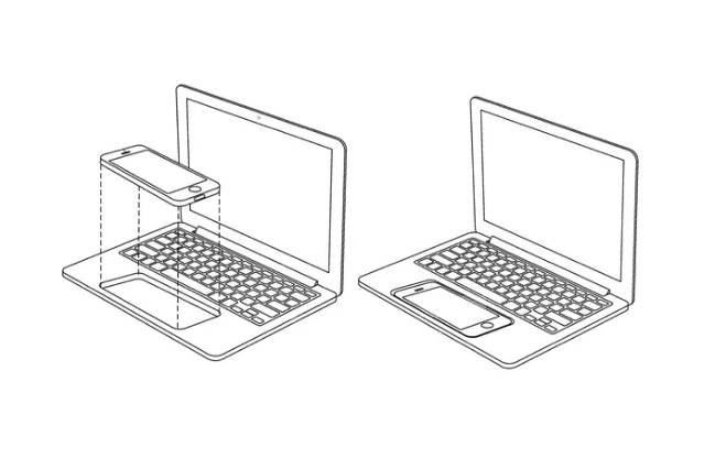 Apple imagines turning an iPhone or iPad into a touchscreen MacBook 600 01