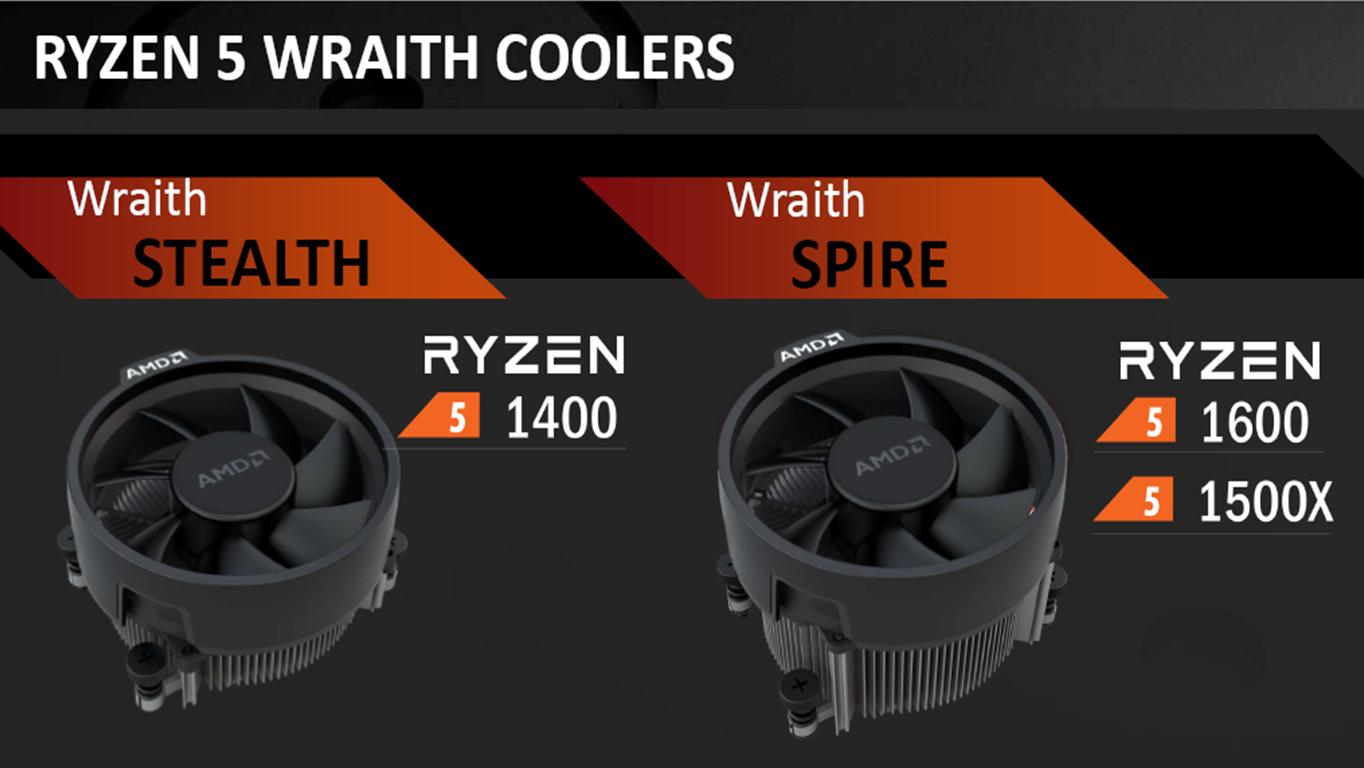 Ryzen 5 wraith coolers