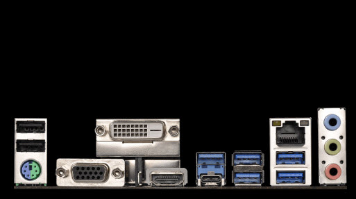 ASRock AB350 Pro port