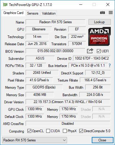 ASUS RX570 GPUZ 1