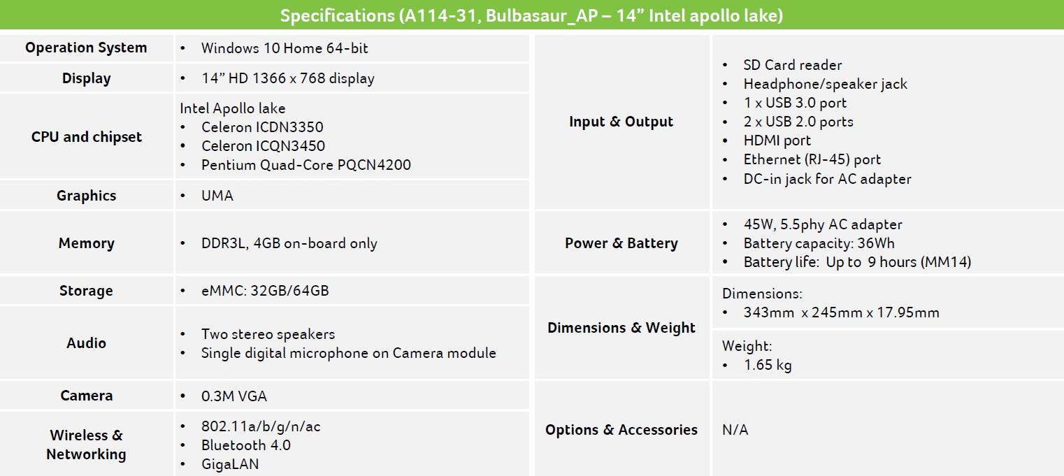 Acer Aspire 1 600 04