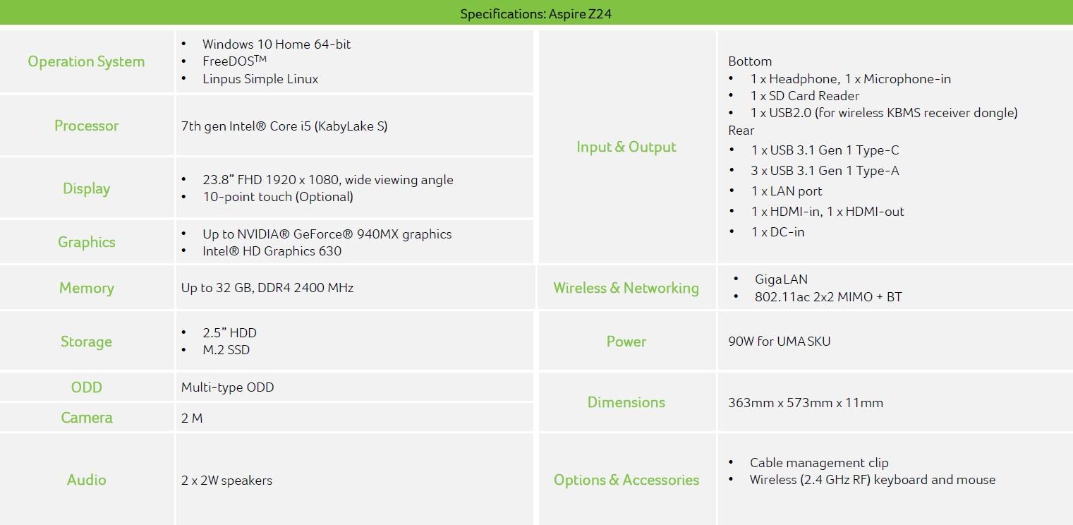 Acer Aspire U24 600 02