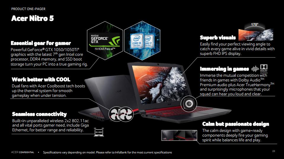[Acer@Next 2017] Acer บุกตลาดเกมมิ่งโน้ตบุ๊คจัดส่ง Predator และ Nitro 5 รุ่นใหม่ ท้าชนคู่แข่ง !!! คาดขายไทยเร็วๆ นี้