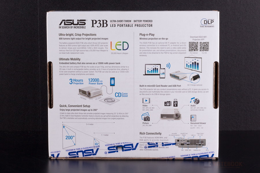 Asus P3B LED Portable Projector-18