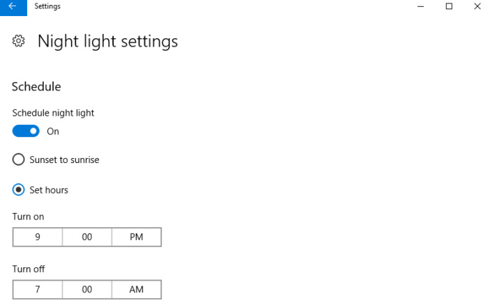 How to use Night Light in the Windows 10 Creators 600 04