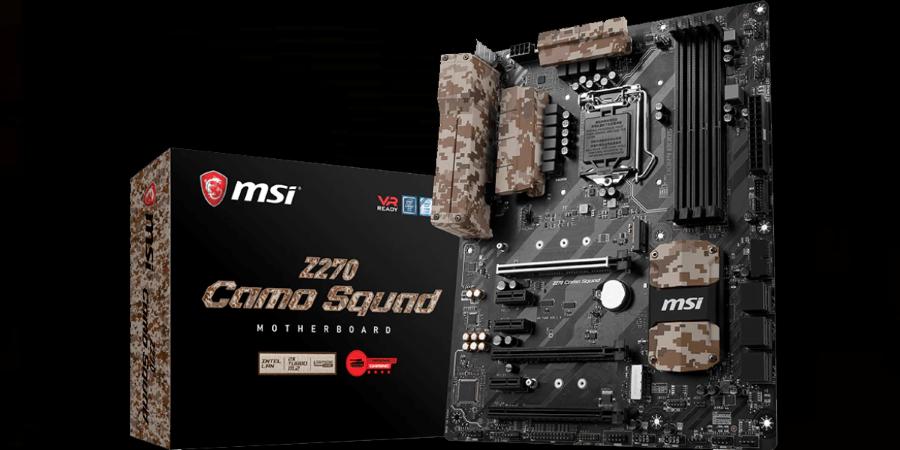 msi z270 camo squad motherboard