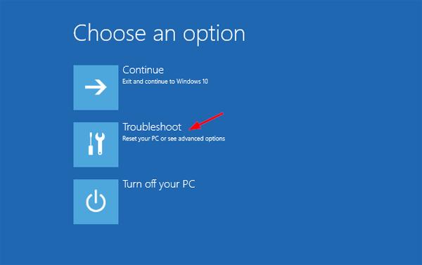 Advance startup option-1-4