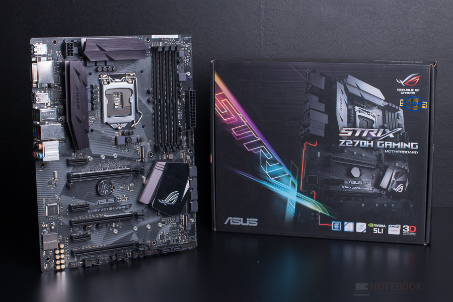 [Preview] Asus ROG STRIX Z270H GAMING เมนบอร์ดไซท์ใหญ่ออปชั่นครบ ด้วยราคา 5,690 บาท - Notebookspec