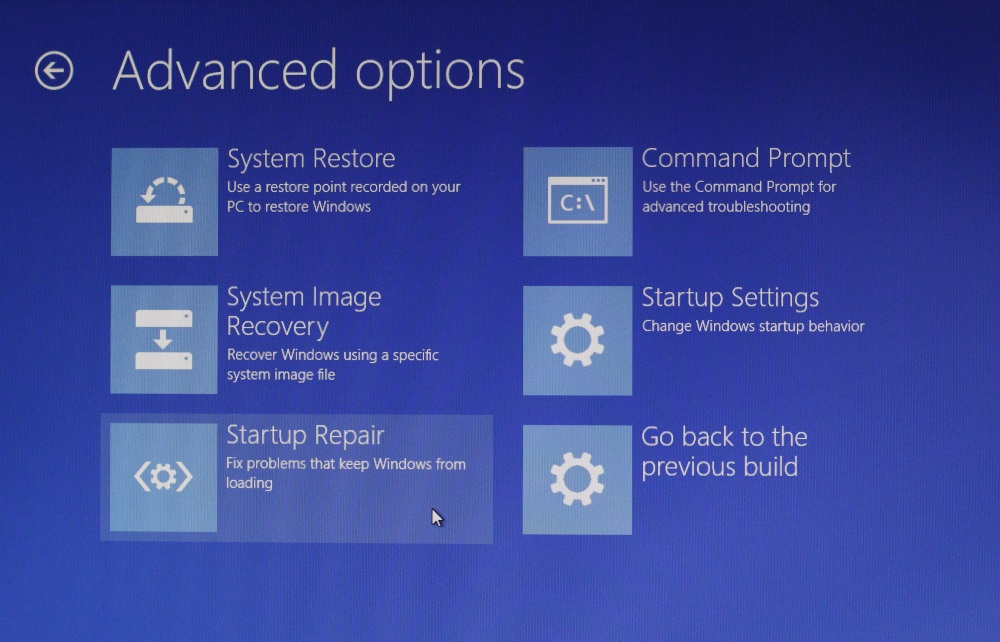 Automatic Recovery Windows 10 6