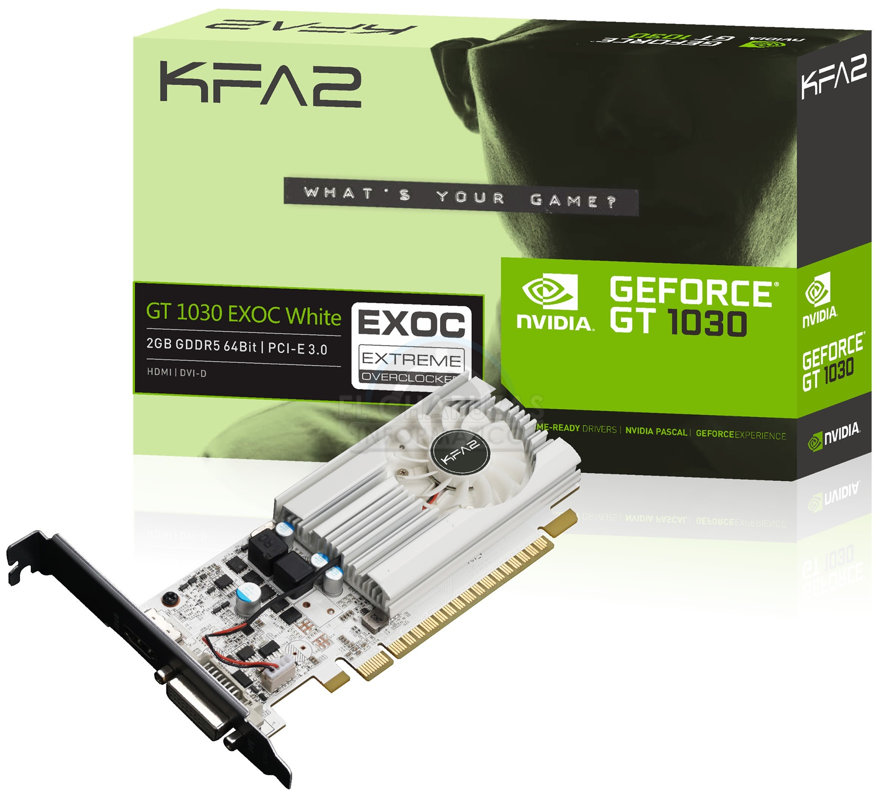 KFA2 GeForce GT 1030 EXOC White 600 01