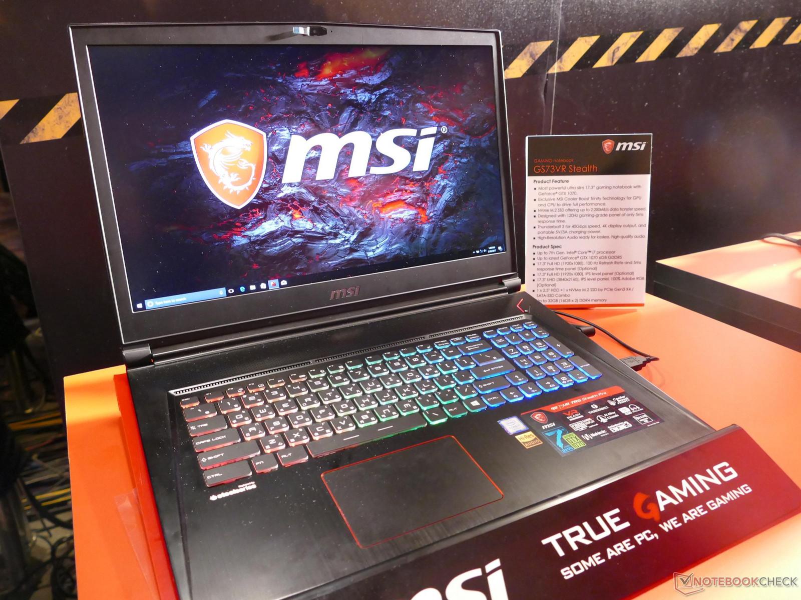 MSI GS73VR Stealth 600 01