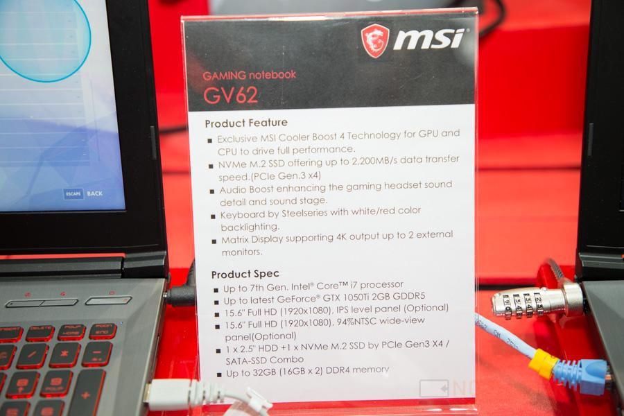 MSI Gaming Notebook Computex 2017 5