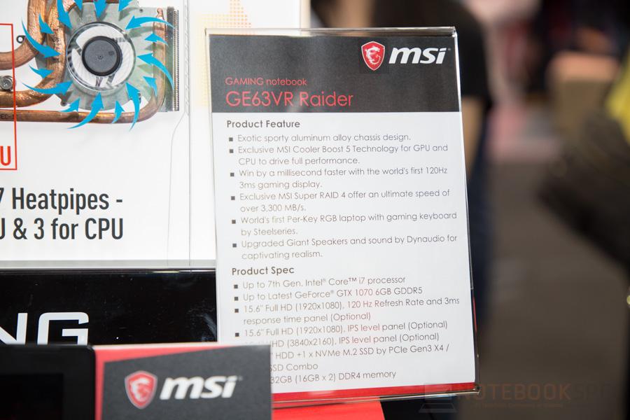 MSI Gaming Notebook Computex 2017 57