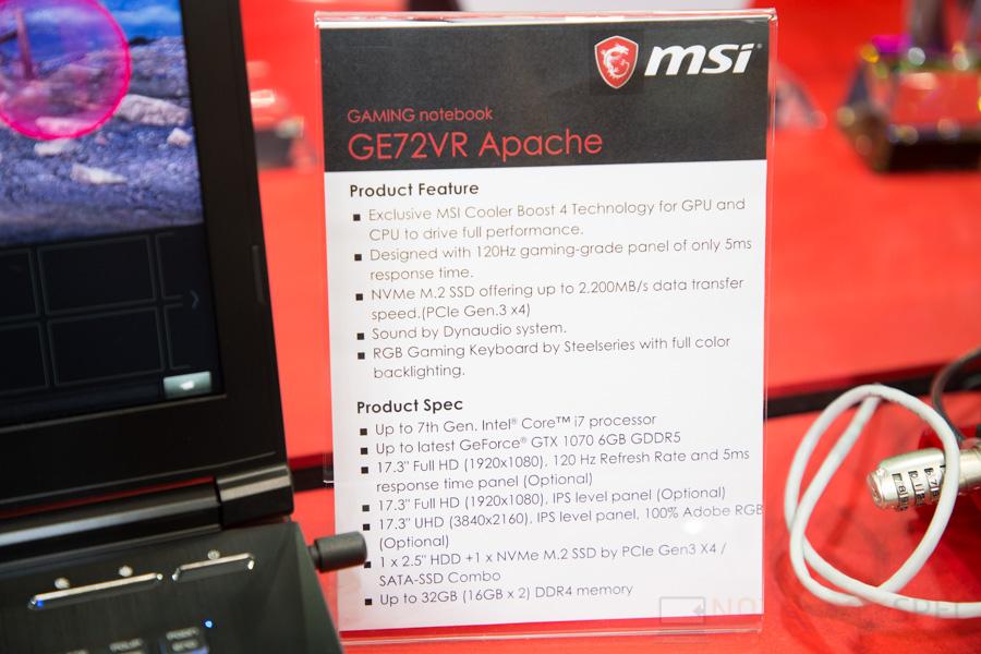 MSI Gaming Notebook Computex 2017 83