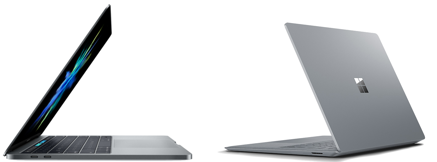 The Apple MacBook Pro and Microsoft Surface Laptop 600 01