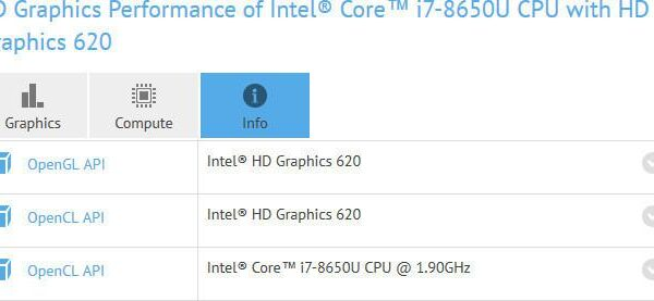 core i7 8650U spotted on GFXBench