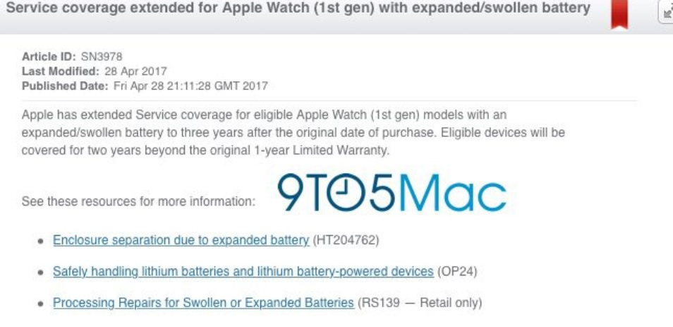first apple watch have extend warranty 600