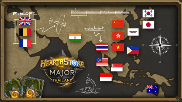 THAI MAJOR COUNTRIES MAP