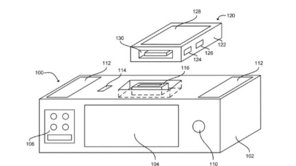 apple patent on smart dock with Siri and wireless charging 600