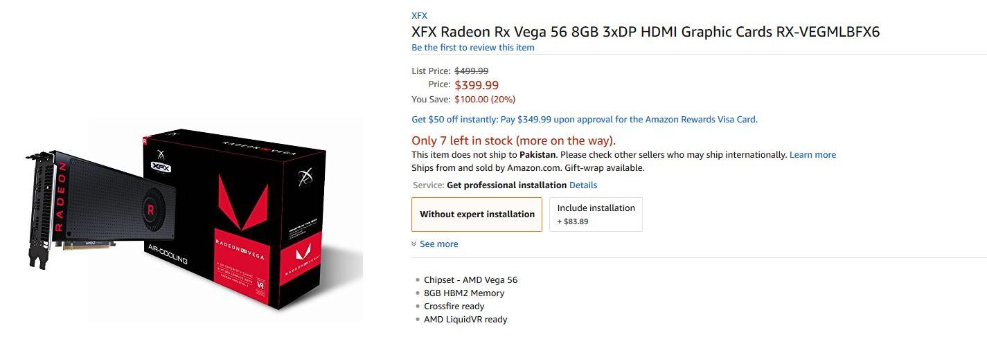 AMD] RADEON RX Vega 56 การ์ดจอตัวแรงเทียบ GTX 1070 เคาะราคาที่เว็บ