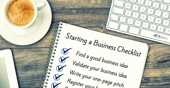Starting a Business Checklist Bplans