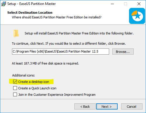 โหลดโปรแกรม easeus partition master free 11.0
