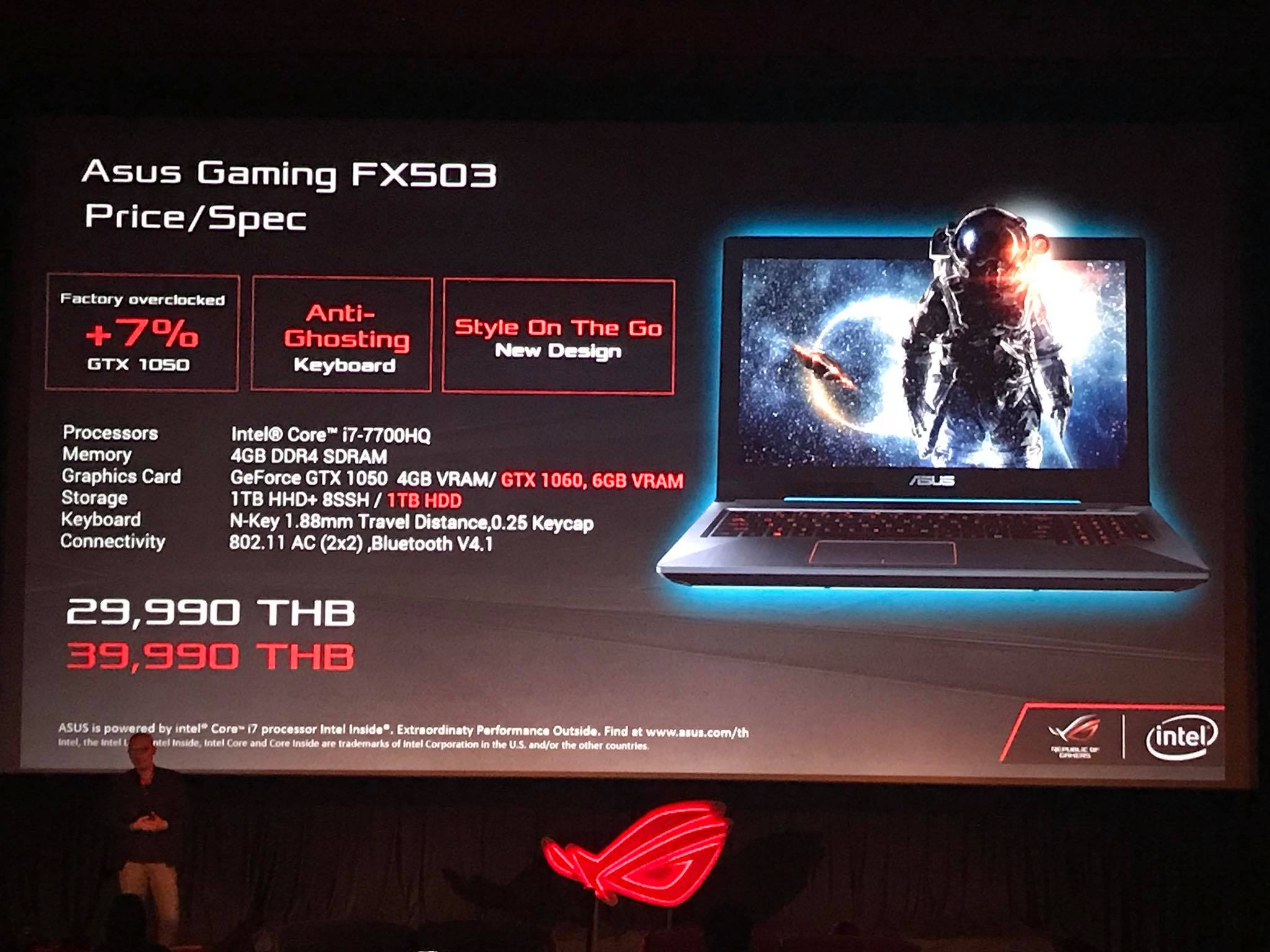 Preview ASUS FX503 Gaming Notebook GTX 1050 1060