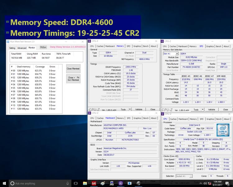 G.Skill DDR4 4600 Intel Gen8 1