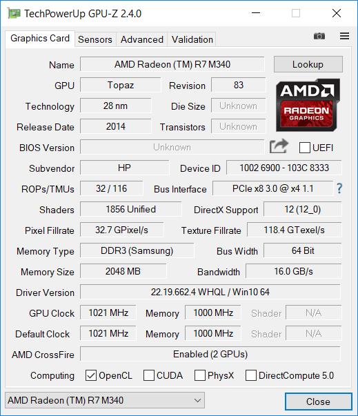 HP 15 bw079AX GPU2