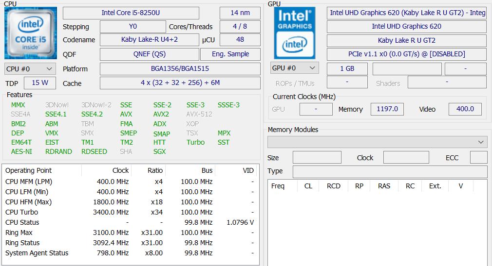 core i5 8250u