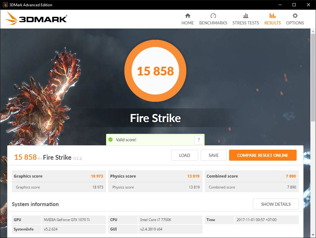 1070ti fire strike 1