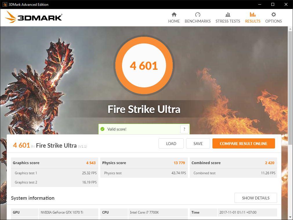1070ti fire strike ultra 1
