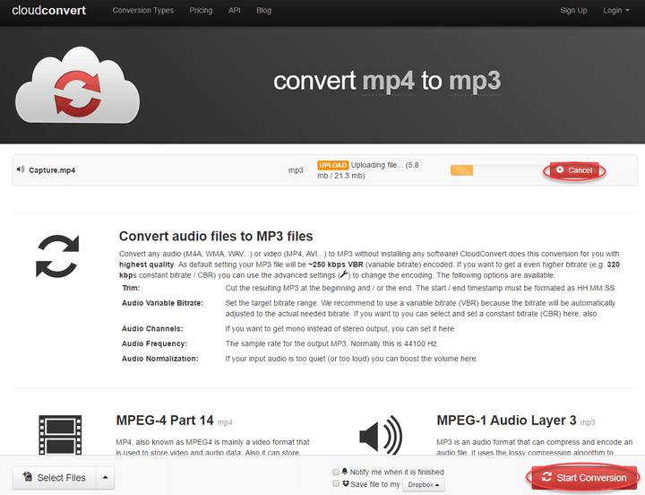 CloudConvert convert video 8