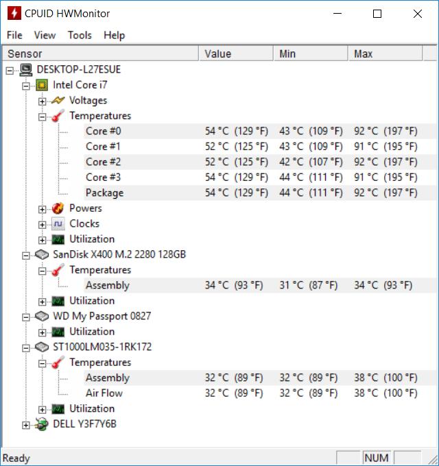 Dell Inspiron 5570 temp