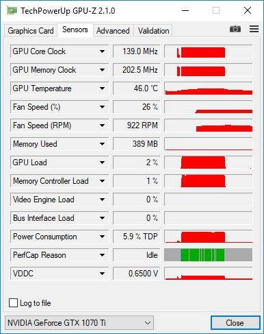 GTX 1070TI GPUZ 2