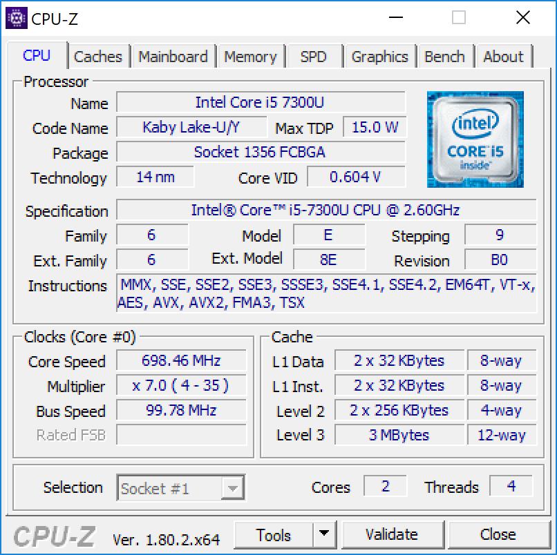 Surface Pro cpu1